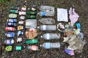 inventaire des déchets ramassés