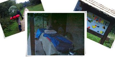 Après une journée de marche dans le Jura, nous avons dormis dans le refuge du Paradis.