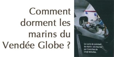 Comment les marins du vendée Globe dorment durant leur tour du monde ?