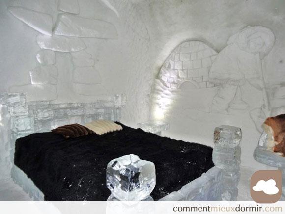 une chambre de glace à Montmorancy