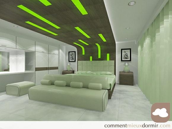 Une chambre verte permet de mieux domir