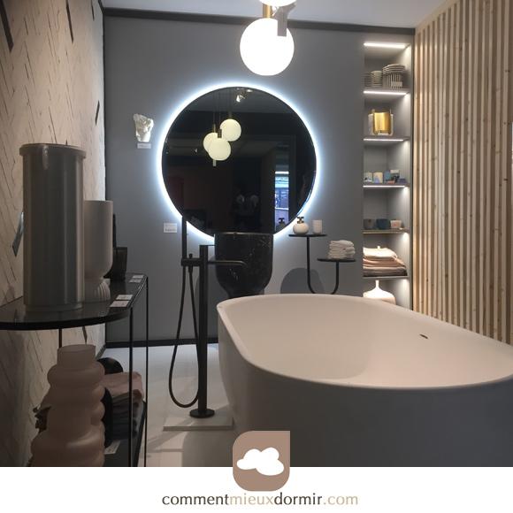 espace bain chambre contemporaine